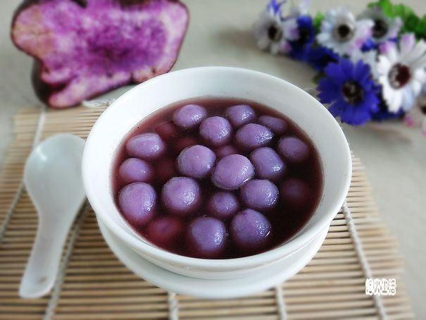 紫山药汤圆的做法