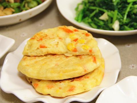 鸡蛋山药玉米饼