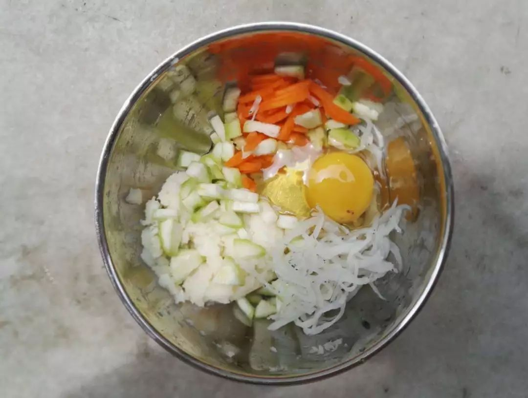 银鱼胡萝卜山药软饼